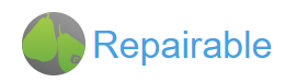 Repairable logo